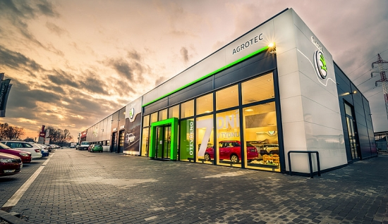 Agrotec car showroom